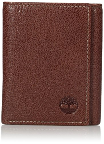 - Timberland Men's Genuine Leather RFID Blocking Trifold Security Wallet, Brown, One Size