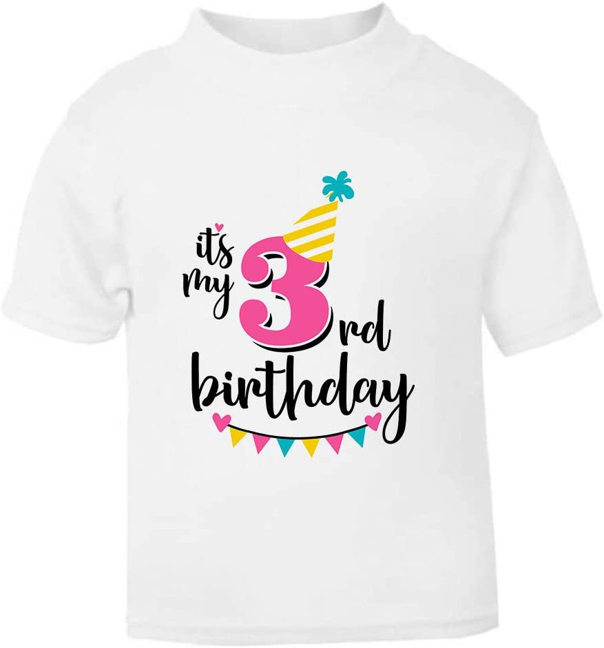 IT/'S MY THIRD BIRTHDAY GIRLS FIT T-SHIRT TSHIRT CLOTHES GIFT IDEA CAKE PARTY