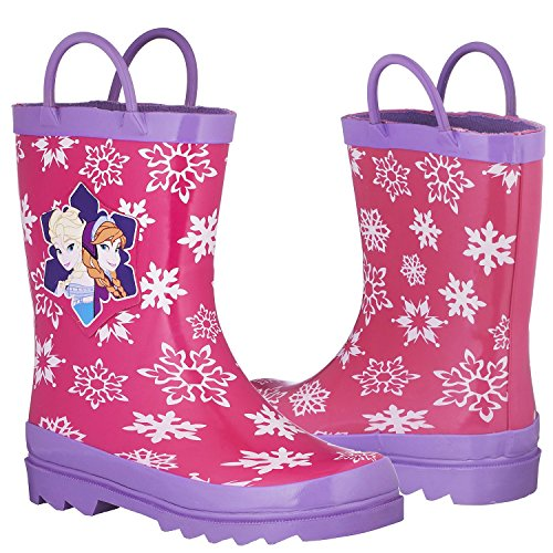 Disney Frozen Girls Anna and Elsa Pink Rain Boots - Size 12 M US Little Kid by Disney (Image #5)