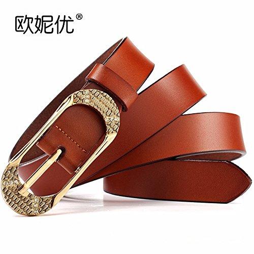 Cuir de vachette dames ceinture diamant broche boucle décontractée ceinture  mode décoration jeans ceinture femme fine 0b21cef9afa