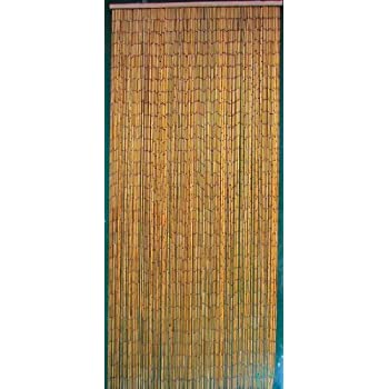 This Item Natural Bamboo Beaded Curtain 125 Strands (+hanging Hardware)