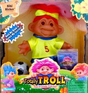 Totally Troll Kiki Kicker Figure Soccer Troll Doll 5 Playmates