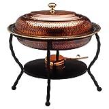 Old Dutch 161/2-Inch x121/2-Inch x18-Inch Oval Copper Chafing Dish, 6 Quintal