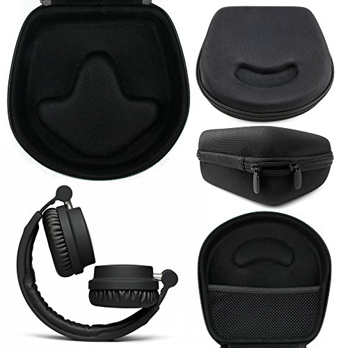 DURAGADGET Hard 'Shell' EVA Headphone Case (Black) Compatible with the Urbanears Ziken Over Ear Headphones - with Internal Netted Accessories Pocket by DURAGADGET