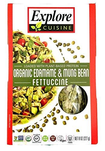 Explore Cuisine Fettuccini, Organic Edamame & Mung Bean, 8 Oz (Pack Of 6)