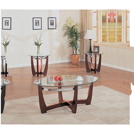 ACME Baldwin Walnut Coffee End Table Set 3 Piece