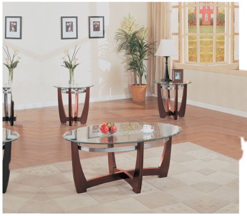 ACME Baldwin Walnut Coffee End Table Set 3 Piece