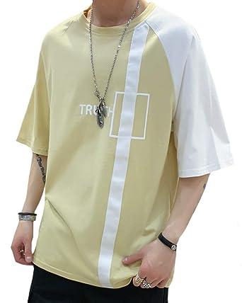 8dd5eedcff5516 Amazon | Tシャツ メンズ Tシャツ 七分袖 五分袖 吸汗速乾 汗染み防止 夏 ...