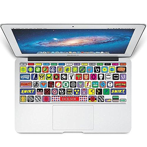 KBubble MacBook Laptop Vinyl Decal Sticker Keyboard K002 Super Hero Symbol]()
