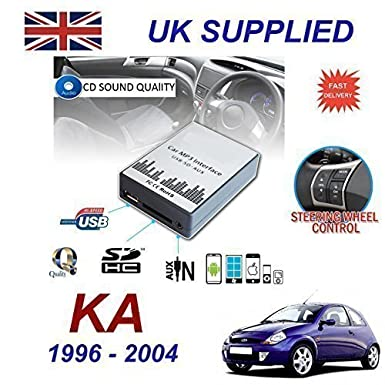 Ford Ka   Mp Sd Usb Cd Aux Input Audio Adapter Digital