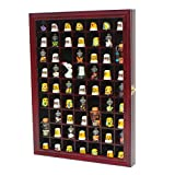 59 Thimble / Miniature Display Case Holder Cabinet Shadow Box, Solid Wood, Felt Interior Background-TC01-CH
