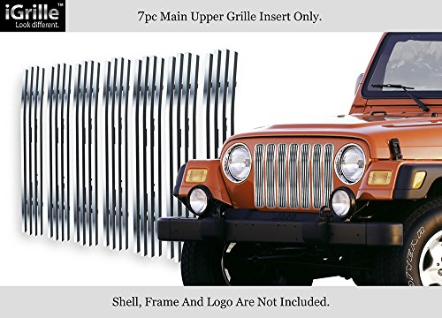 APS For 97-06 Jeep Wrangler Vertical Stainless Steel Billet Grille Grill Insert #J85490C