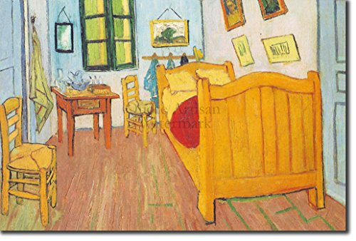 Best Quality Prints Van Gogh - Bedroom in Arles (1888) - Reproduction of a Beautiful Vincent Van Gogh Painting - Photo Poster Print Art Gift - Size: 45cm x 30cm (Vincent Van Gogh Bedroom In Arles 1888)