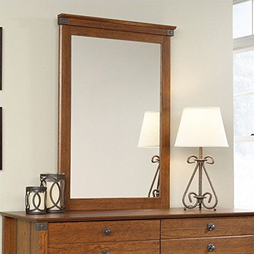 sauder-carson-forge-mirror-in-washington-cherry