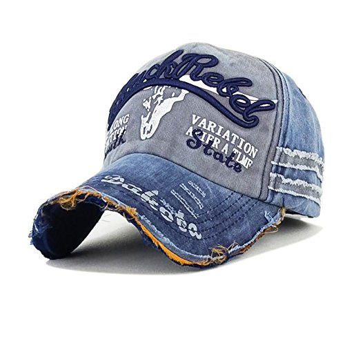 de y Roto Béisbol Ribete Mujeres Vaquero de de de 9 Retro Béisbol Azul Viejo de Hombres Salvaje Sombrero la Nueva Gorra Visera Gorra Skyeye taOTwPcqP