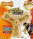 Nylabone Romp 'N Chomp Wolf Chicken Flavored Triple Treat Bone Dog Treat and Chew Toy
