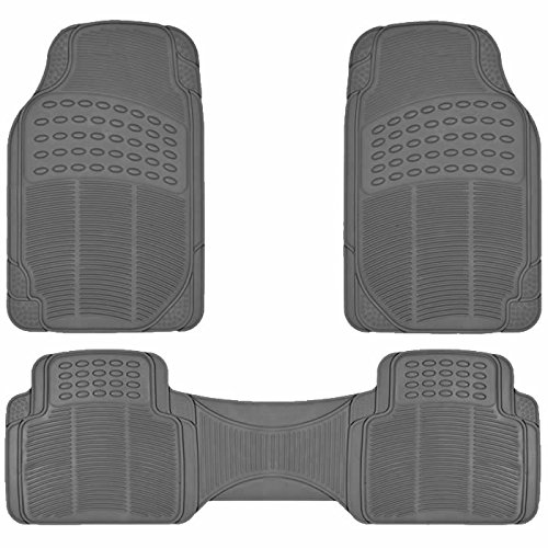 U.A.A. INC. MT-9002GR All Weather Front Rear Runner Rubber Floor Mats (University Floor Runner)