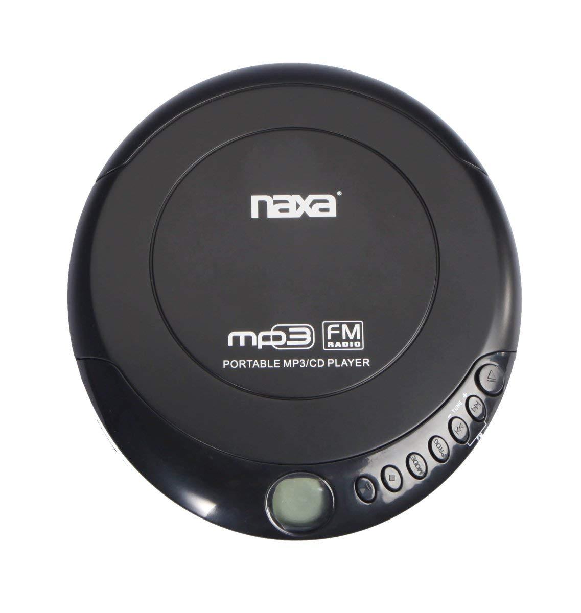 Naxa NPC-320 Slim Personal Anti-Shock CD Player-FM Radio