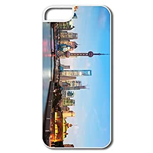 IPhone 5 5S Cases, Shanghai Cityscape White Cases For IPhone 5/5S