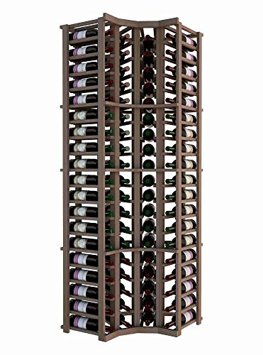 Wine Cellar Innovations DPM-UN-CURVE-A3 Designer Series Curved Corner Wine Rack, Prime Mahogany, Without Lacquer Finish, Unstained