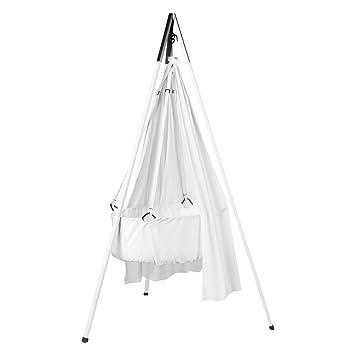 Matratze und Deckenhaken in weiß Leander Babywiege inkl