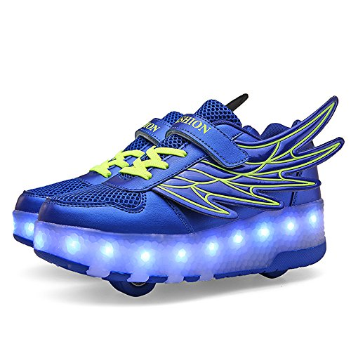 477fda8cc39 zgshnfgk LED Fashion Sneakers Kids Girls Boys Light Up Wheels Skate Shoes  Comfortable Roller Shoes Thanksgiving Christmas Day Best ...