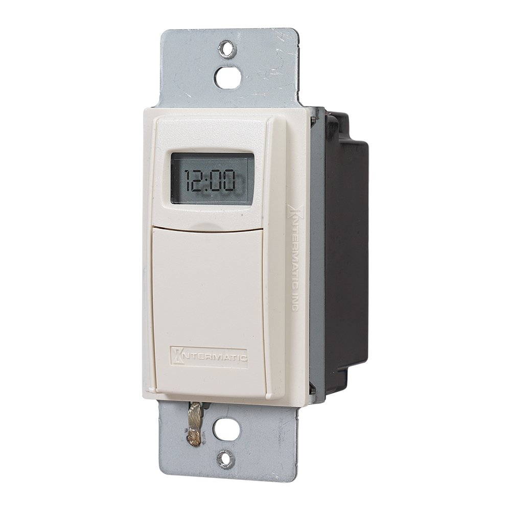 Intermatic EI400LAC Programmable Electronic Countdown In-Wall Timer, Light Almond