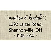 Personalised Address Stamp - Family Return Address Stamp - 2X