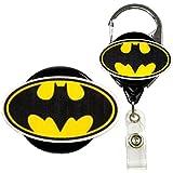 Batman Inspired Symbol Real Charming Premium Decorative ID Badge Holder (Metal Carabiner)