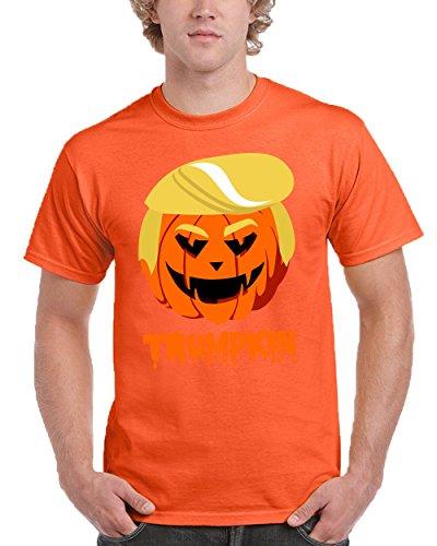 Halloween, Trumpkin Funny Trump Mens Fashion T-Shirt (XX-Large, Orange) ()