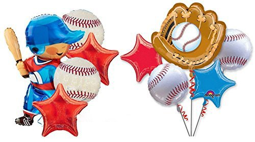 Anagram Baseball Balloons Birthday Party Balloons Bouquet Decorations Supplies Baseball Player Party