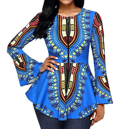 new style ccb39 cfa7c Gergeos Blouse Women s Crushed Long Sleeve V-Neck Button-Down Bandage Casual  Tops