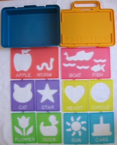 Vintage Tupperware TupperToys Carrying Case & Complete Stencil Art Set