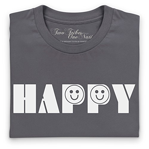 Official Two Tribes Emoji - Happy Camiseta, Para mujer Gris marengo
