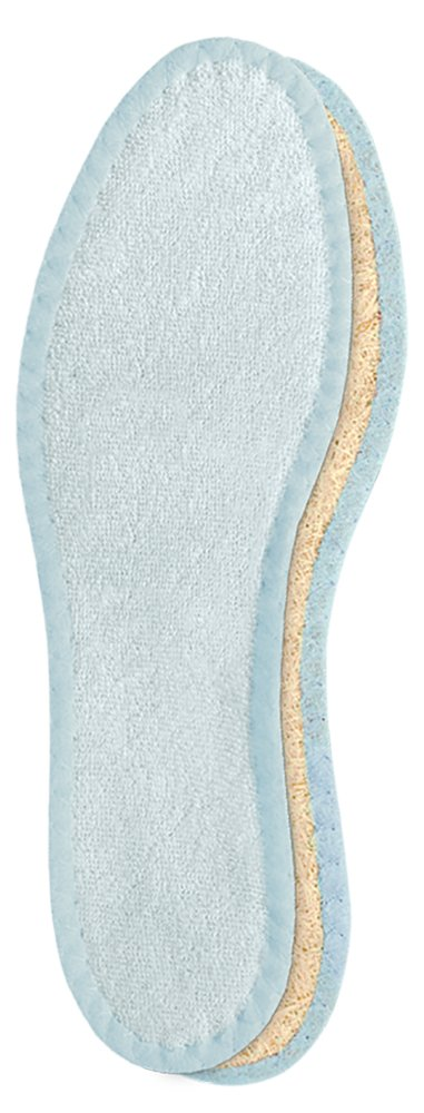 Pedag 106 Deo-Fresh Washable Insoles with Natural, Durable Cotton Terry and Sisal Fibers, Pale Blue, Women's 10/Men's 7 Women' s 10/Men' s 7 ART 106