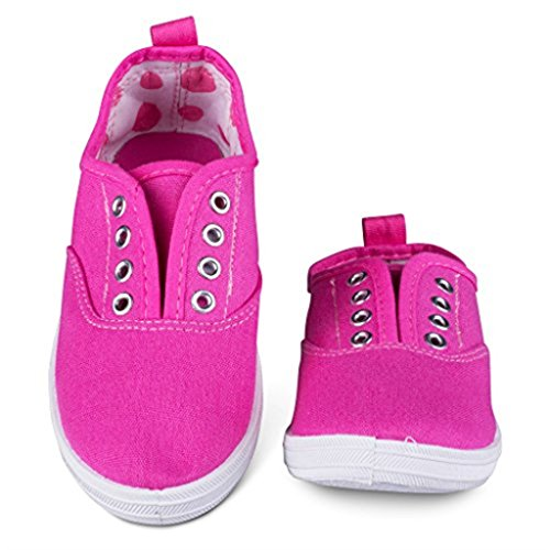 g101-pink-t10-girls-canvas-sneakers-pink-slip-on-casual-shoes-eyelet-details-toddler-size-10