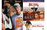 Sports DVD Bundle 4-Movies Rudy/Radio/Jerry Maguire/White Men Can't Jump