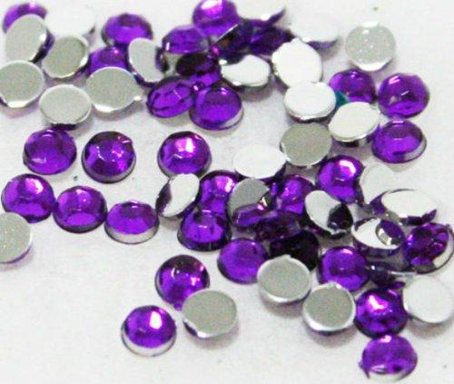 Zink Color Nail Art Acrylic Rhinestone Deep Purple 1.5Mm 100Pc Embellishment