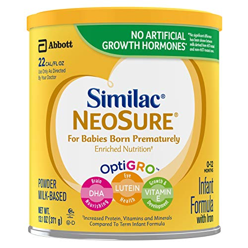 Liquid Quick Cal - Similac NeoSure Infant Formula with Iron, For Babies Born Prematurely, Powder, 13.1 ounces (Pack of 6)
