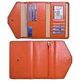 Rfid Multi Passport Holder Cover Travel Organizer Wallet Purse Men Women (Orange)