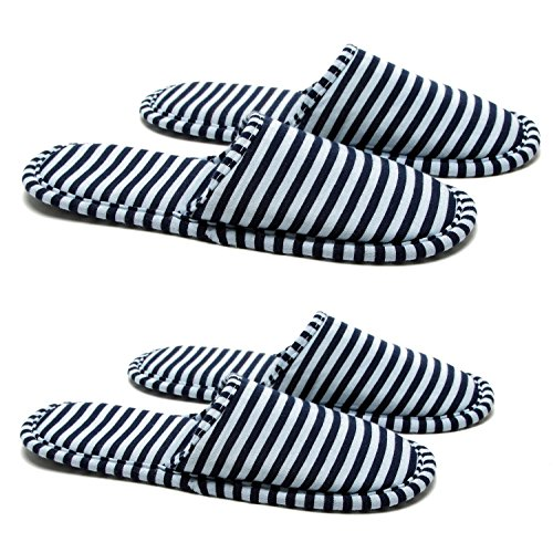 NKTM Women Men Travel Hotel Slippers,Foldable Travel Slippers Portable Carrying Bag (2 Pair) by NKTM (Image #4)