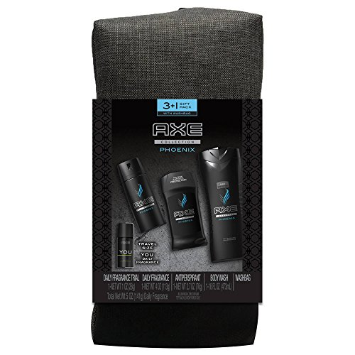 Axe Phoenix 2017 Holiday Gift Bag Set for Him: Body Wash, Antiperspirant, Daily (Phoenix Gel Anti Perspirant)