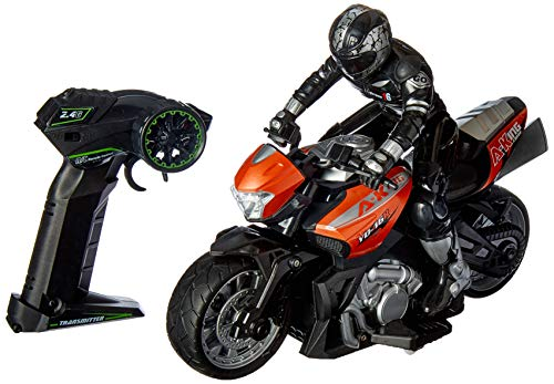 Click N' Play Cross Country High Speed RC Remote Control Stunt Motorcycle with Riding Figure-Colors and Styles May Vary! (Control Motorcycle Remote)