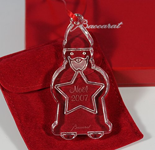Baccarat Crystal 2007 Annual Christmas Santa Clause Ornament (Christmas Ornament Baccarat)