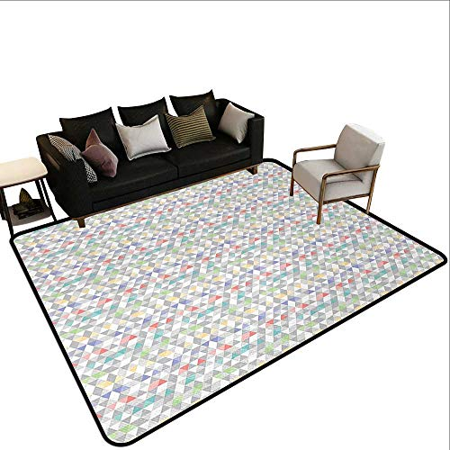 - Indoor Outdoor Rugs Pastel,Colorful Mosaic Tile with Triangle Shapes and Fractal Look Hipster Modern Geometric,Multicolor,for Living Room Bedrooms Kids Nursery Home Decor 2'x 3'