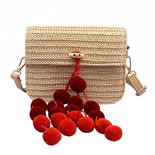 Rojo Bolso Rojo para Mujer Hombro al Rojo JUNERAIN SYqw0Y