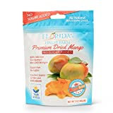USA Grown in Florida, Additive-Free Mango Snacks, Healthy, Allergy Friendly Dried Fruit Snacks, Vegan & Paleo Friendly – Mango Gold (No Sugar Added, Regular Bag 3oz (Pack of 5))