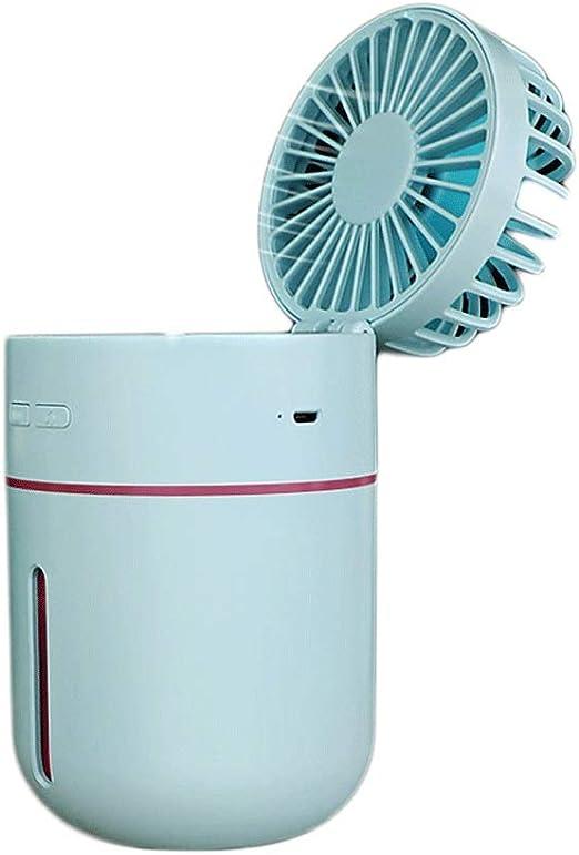 Mini Aire Acondicionado Spray Ventilador pequeño USB Recargable ...