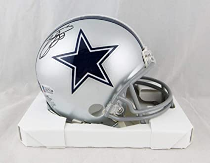 c670a81ea Image Unavailable. Image not available for. Color  Emmitt Smith Autographed  Dallas Cowboys Mini Helmet-Beckett ...