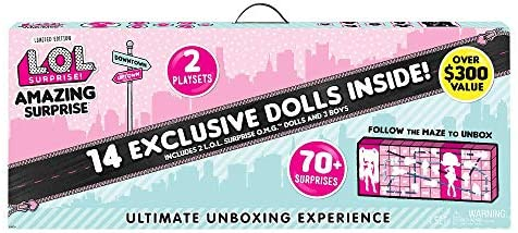 L.O.L. Surprise! Amazing Surprise with 14 Dolls, 70+ Surprises & 2 Playset 559764E7C